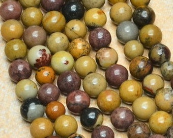 4mm Natural Chohua Jasper Gemstone Beads    4mm Full Strand Chohua Jasper