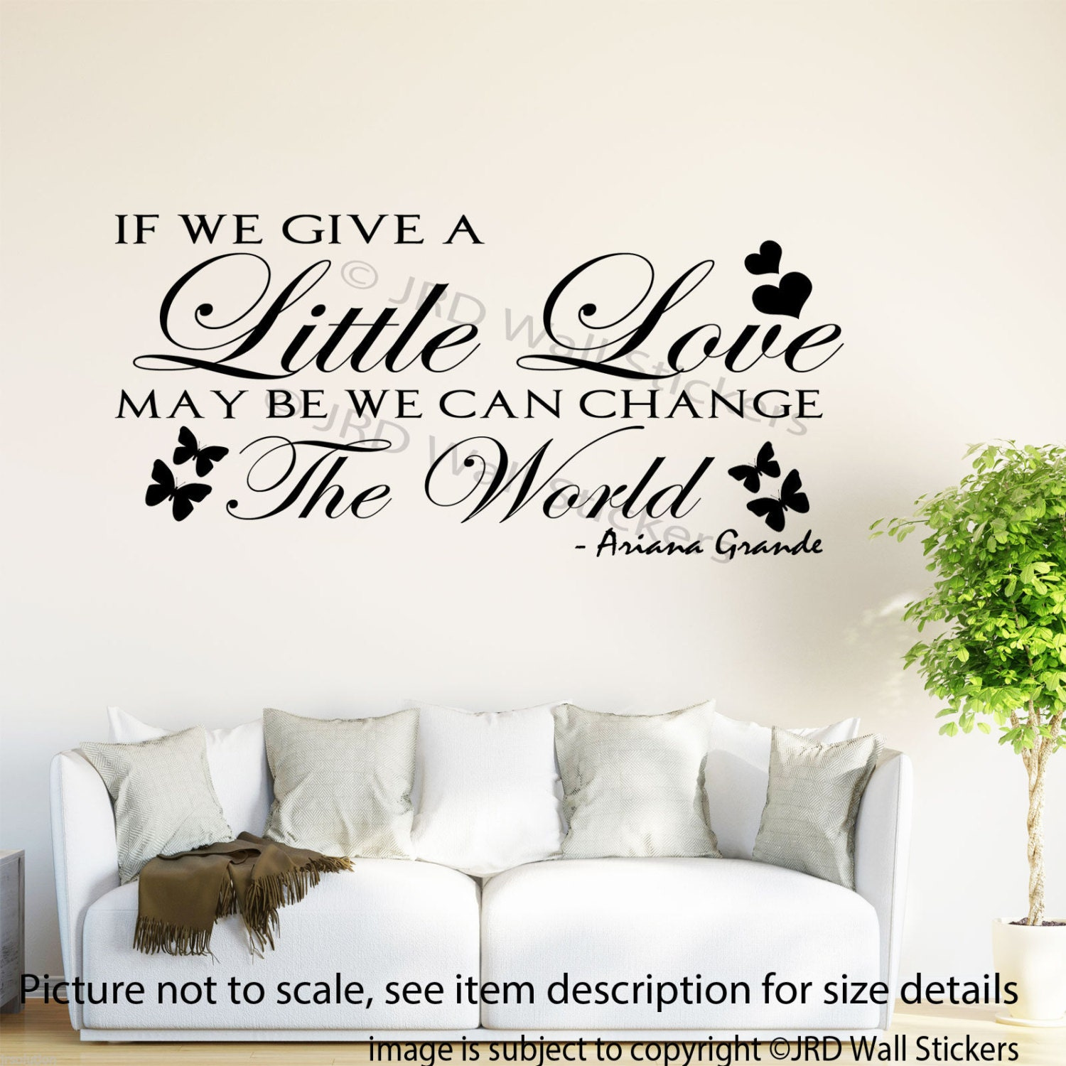 ariana grande quote wall stickers if you give a little like this item
