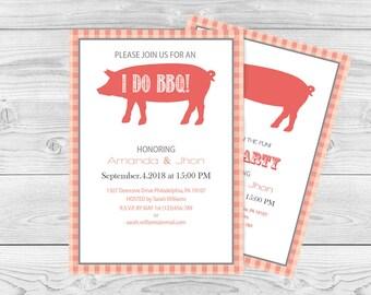 pig roast invitation etsy. Black Bedroom Furniture Sets. Home Design Ideas
