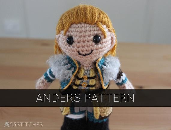 Dragon Age Amigurumi : Anders Amigurumi Plush Crochet Doll Pattern from ...