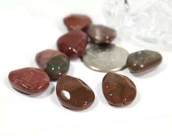 Genuine Red Agate Stones Lima Bean Shaped 8x15x20mm 4pcs