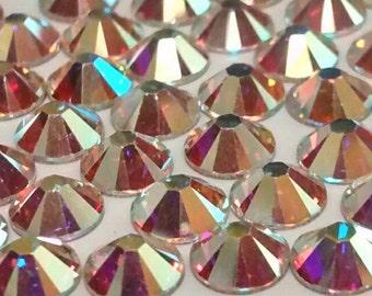 Swarovski AB Flatback Rhinestone Crystal Qty 144 -Tracking included