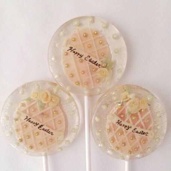 3 Pastel Easter Egg Lollipops