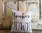 Burlap Pillow - Hunker Down pillow | UGA pillow, UGA football, Bulldawgs, University of Georgia | Graduation Gift | Mother's Day
