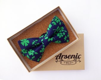 Floral bow tie | mens bow tie | navy bow tie | blue bow tie | boys bow tie | toddler bow tie | vintage bow tie | womens bow t
