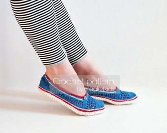 Crochet pattern: espadrilles with jute rope soles,soles pattern included,women sizes,cord,twine,shoes,slippers,loafers,adult,girl,ballerina