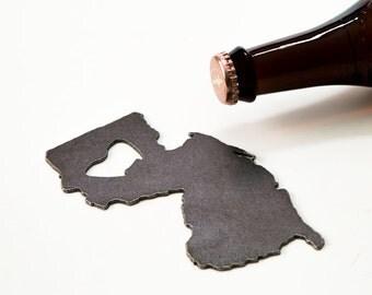 July 4th  New Jersey Steel Bottle Opener