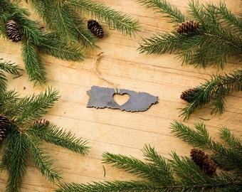 Heart Puerto Rico Christmas Ornament Steel Ornament