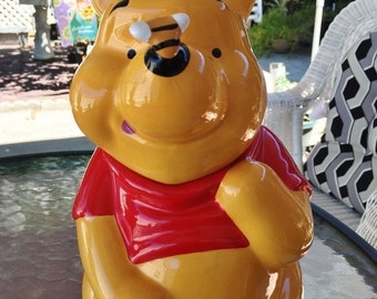 ON SALE - Vintage Winnie The Pooh Cookie Jar by Treasure Craft