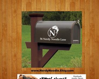 Fish Mailbox Decal, Fish Custom Mailbox Decal, Fish Address Decal, Mailbox Numbers, Mailbox Monogram, Mailbox Stickers