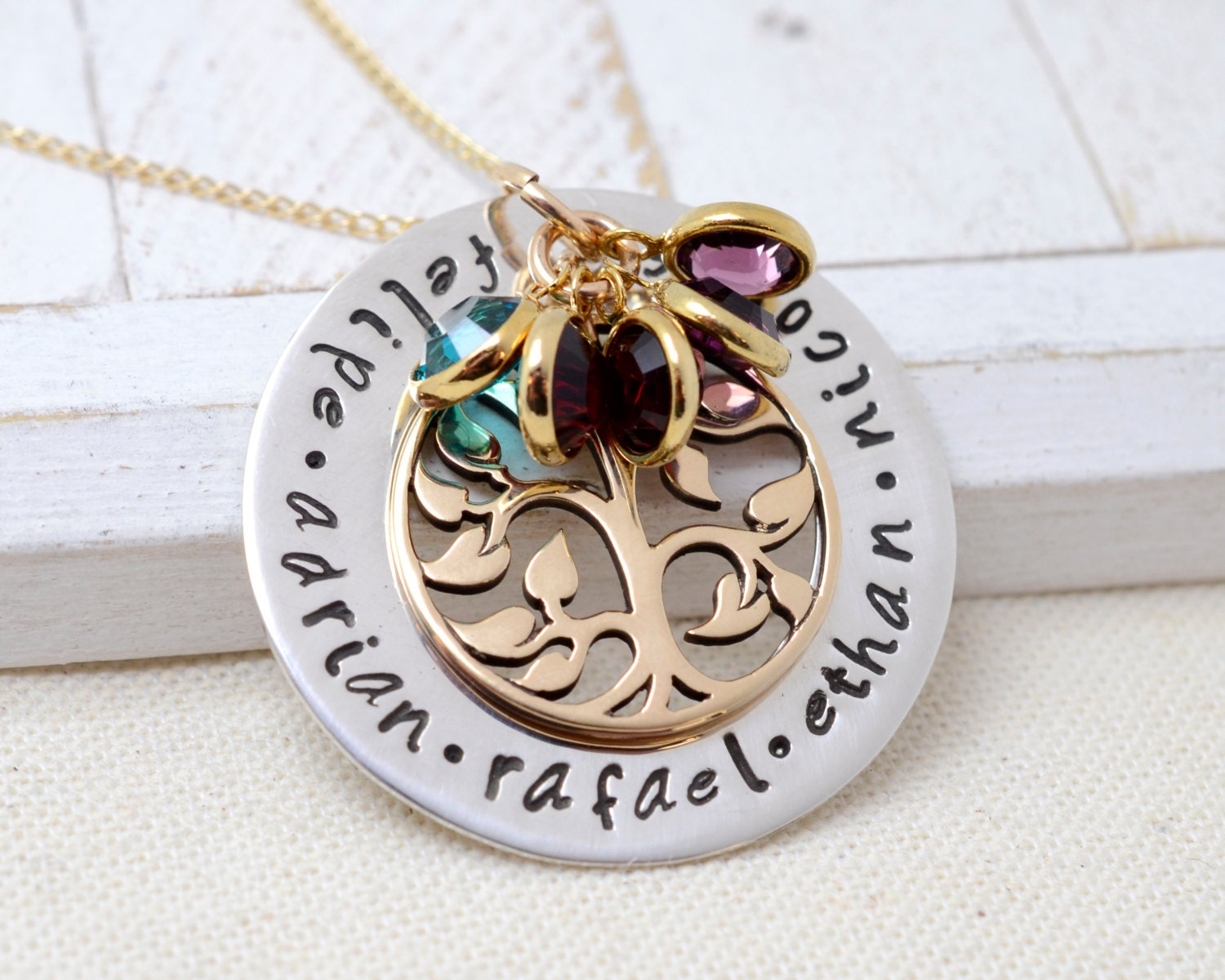 Personalized family tree necklace grandmother necklace for Jewelry for mom for christmas