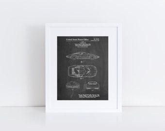 Chevrolet Aerovette Concept Car Patent Poster, Corvette Art, Car Enthusiast, Car Gifts, Garage Art, PP0399
