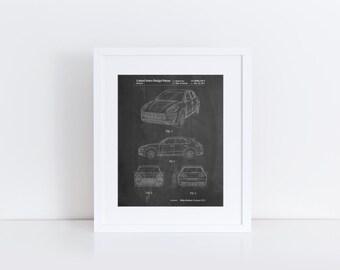 Sports Car Patent Poster, Car Poster, Teen Room Decor, Automotive Art, PP0995
