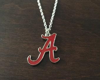 Alabama necklace, Alabama Crimson Tide necklace, Alabama jewelry, Alabama, Crimson Tide, Alabama Crimson Tide, Crimson Tide necklace