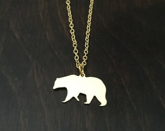 bear necklace, bear jewelry, bear pendant, bears necklace, bear, bears, gold bear, gold bear necklace, gold bear jewelry, gold necklace