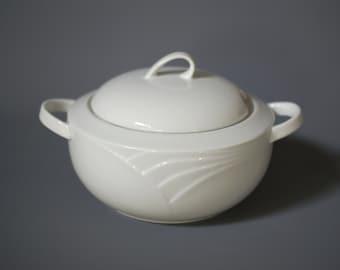 WINTERLING Soup Tureen, Plain White Porcelain Soup Tureen, Made in Germany, Bavarian Porcelain Soup Tureen, 1980s White Porcelain