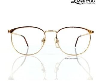 Lurveau® Retro Browline Vintage Glasses - Tort/Maroon