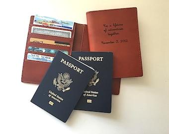 Multiple Passport Holder, Double Passport Wallet,  Passport Keeper for Two Passports, Passport Sleeve, Personalized Dual Passport Wallet,