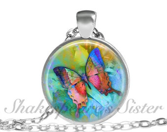 Butterfly Necklace - Nature Jewelry - Pendant Necklace - Butterfly Jewelry