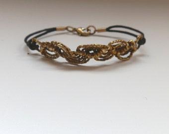 Brass macrame bracelets