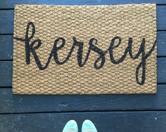 Custom Name Welcome Mat