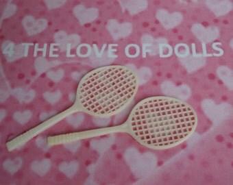 Dolls Tennis Rackets  for Blythe -  BJD - Sindy - Barbie