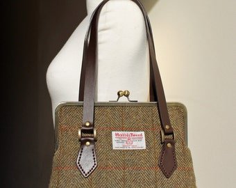 Harris Tweed Kisslock Handbag