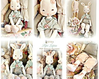 Vintage style bunny rabbit sewing Pattern/ pdf  / instant download / Permission to sell in your Etsy shop!