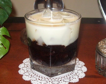 White Russian Drink Candle made with Gel and Soy Wax