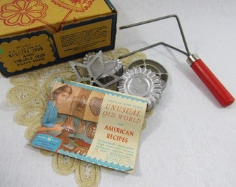 Vintage Nordic Ware Double Rosette Timbale Iron Kitchen Gadgets Original Bix Recipe Booklet European Pastry Maker Old World Recipes