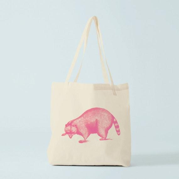 Tote bag blaireau rose sac en toile sac de cours sac for Sac piscine personnalise