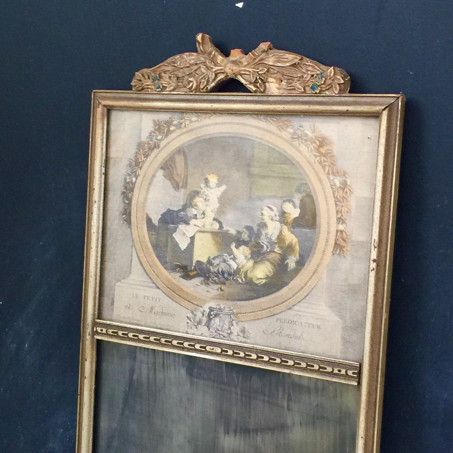antique french style mirror trumeau mirror antique hand
