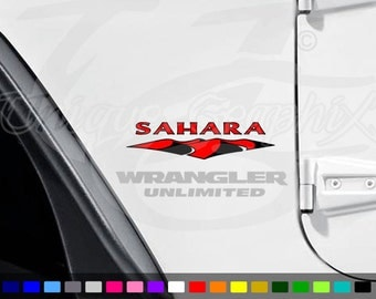 Jeep Sahara Fender Decals 2 colors 1 pair