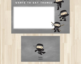 Ninja Thank You Card, Ninja Birthday Thank You, Karate Thank You, Birthday Thank You