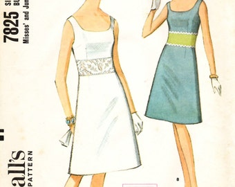 McCall's 7825 Misses and Junior Dress Sewing Pattern