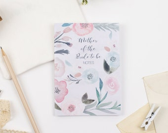 Mother of the Bride To Be Notebook / Pocket Journal / Gift / A6 / Stationary / Present / Wedding / MOB / Bridal Book
