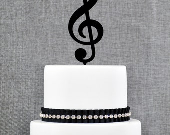 Music Note Wedding Cake Topper, Music Cake Topper, Music Wedding Theme, Custom Colors- (T190)