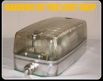 Refurbed Prismatic Lens Bulkhead Wall Lamp Polished Case Desk / Table Lamp iNdUstrial  ViNtage