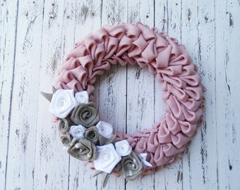 Pink Burlap wreath  - Spring Burlap Wreath - Easter wreath