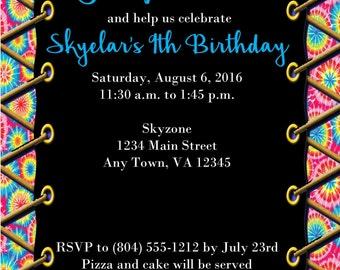 Trampoline/Jumping Birthday Party Invitation