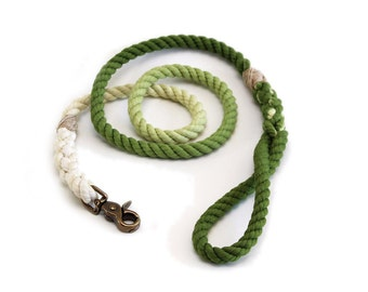 4 FT Earth Green Ombre Rope Dog Leash