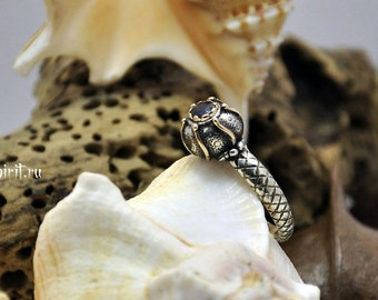 Ring with a sapphire