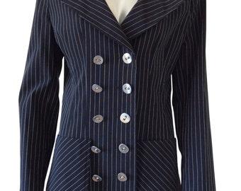 Vintage Tempo Paris Pinstripe Blazer