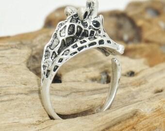 Giraffe Ring - Animal Wrap Ring - Silver Animal Wrap Ring