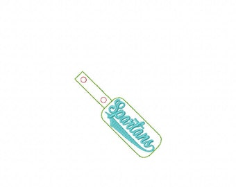 Spartans - Team Name - In The Hoop - Snap/Rivet Key Fob - DIGITAL EMBROIDERY DESIGN