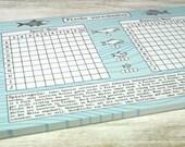 Spiel-Block Fische verschenken // recycling Papier // 50 Blatt A5 // klimaneutral in Deutschland gedruckt