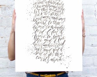 Prone to Wander - Come Thou Fount Poster **