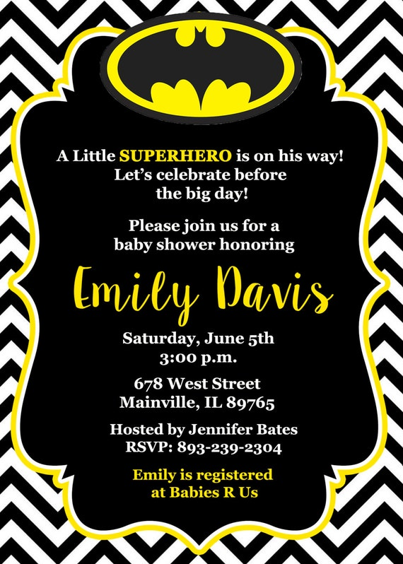 batman baby shower invitation baby invitation superhero first