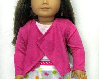 18 inch doll clothes AG doll clothes Girl doll clothes rose pink cascade jacket