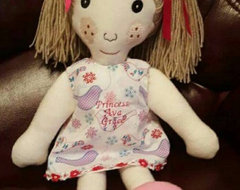 My First Ever Handmade Rag Doll by Cotton and Fred - children's and babies keepsakes